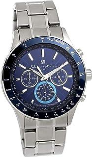 [サルバトーレマーラ]腕時計 ウォッチ 電波ソーラー クロノグラフ 限定モデル イタリアブランド ブルー メンズ
