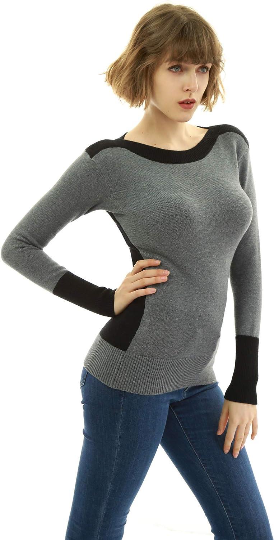 AmélieBoutik Women Boat Neck Sweater Shoulder El Paso Same day shipping Mall Drop