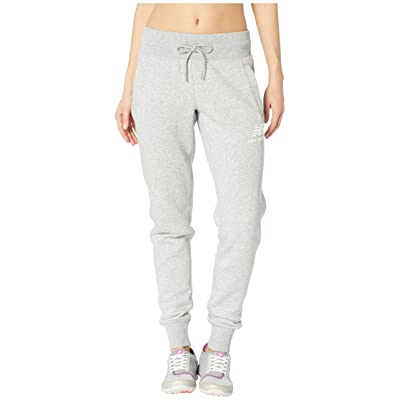 New Balance Essentials Brushed Sweatpants (Athletic Grey) Women