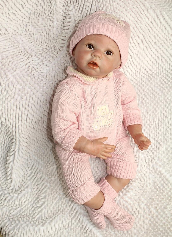 ZIYIUI 22inch Reborn Doll Girl Vinyl Silicone Baby Toy Realistic Doll