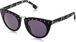 نظارات شمسية بتصميم عين القطة من ديزل DL021101A، اسود/رمادي