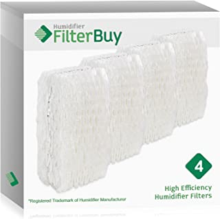 Air Filter Factory 4 Pack Compatible Replacement For ReliOn WF813 Humidifier Wick Filter