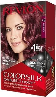 Revlon ColorSilk Hair Color, 48 Burgundy 1 ea (Pack of 4)