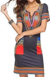 Juleya Été Sexy Africain Imprimer Chemises Robes Femme Vintage Mini Hippie  Plus La Taille Boho Femmes