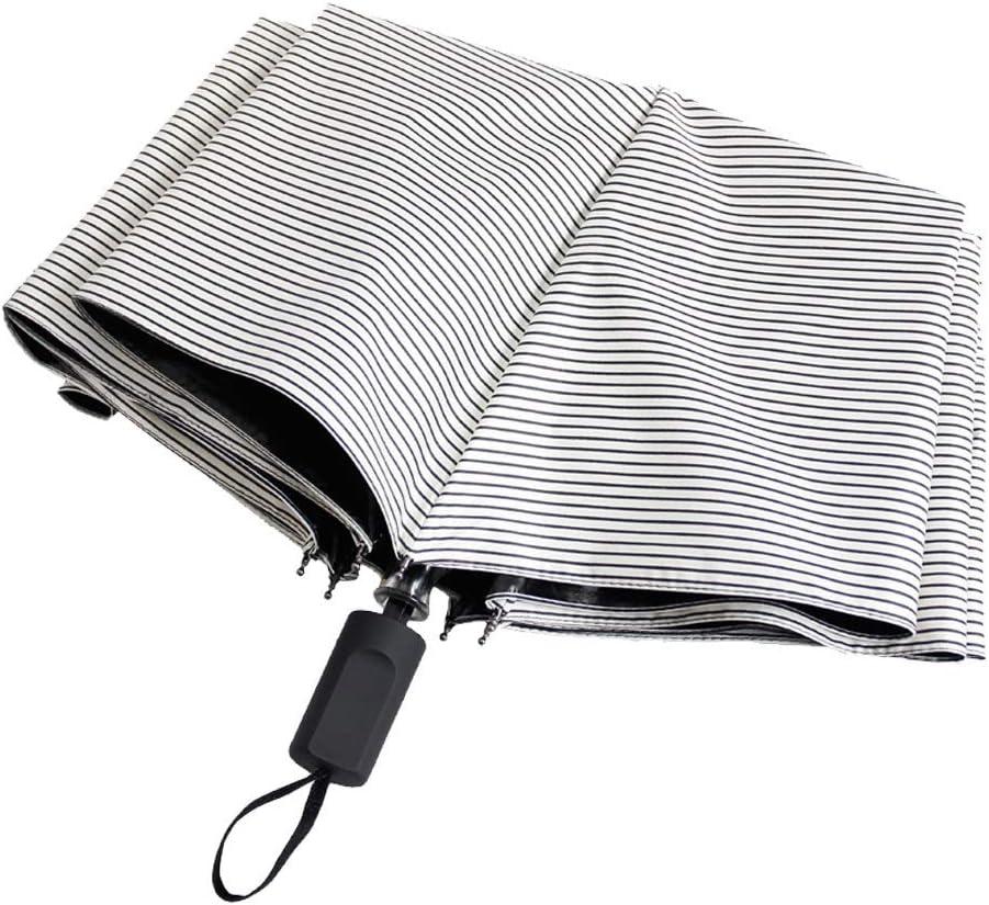 DZWYC Free Shipping Cheap Bargain Gift Umbrella Striped Umbrel Dual-use Folding Regular store