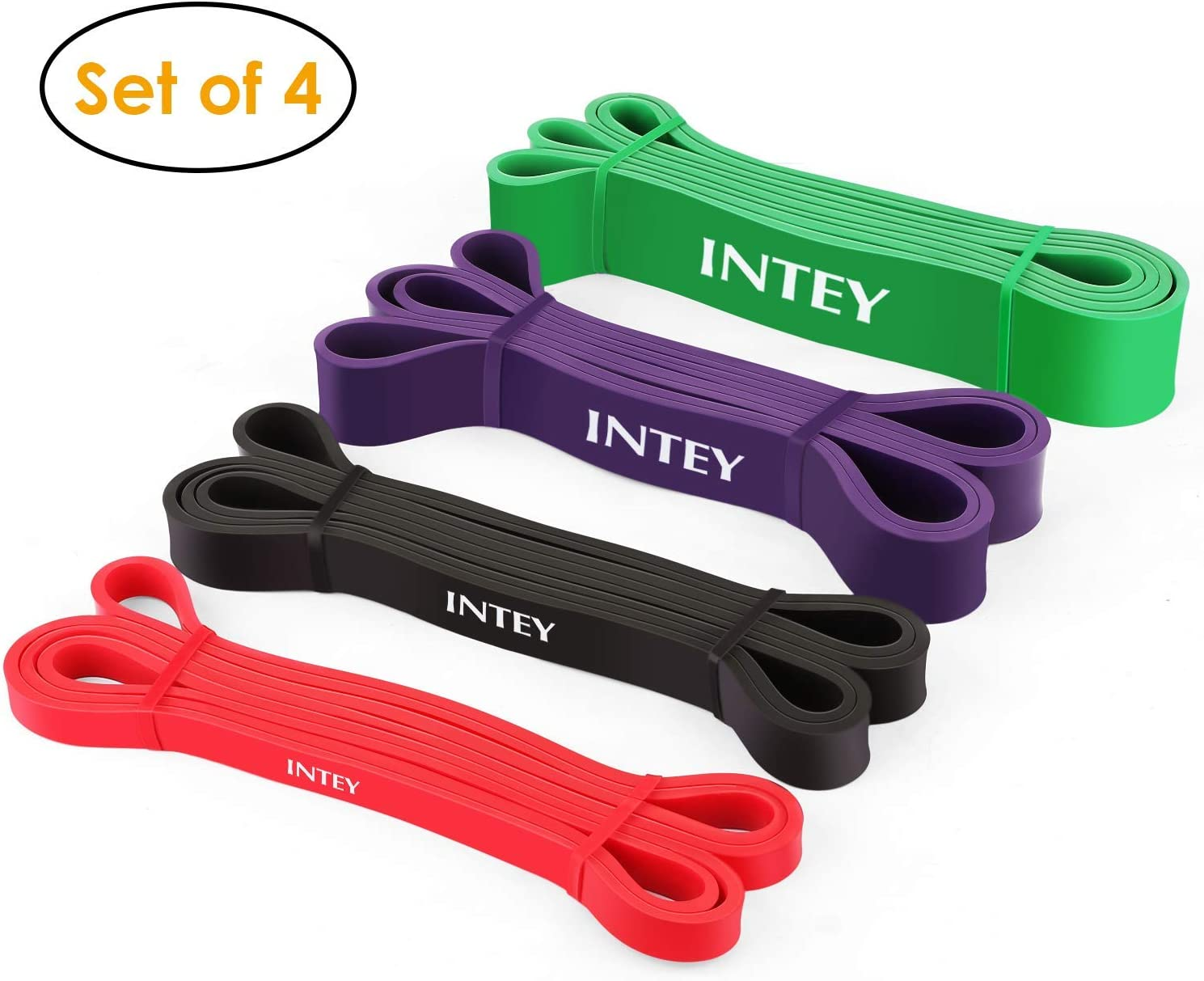 Pull up Assist Band Exercise Resistance Bands for Workout Body Stretch Powerlifting Set of 5