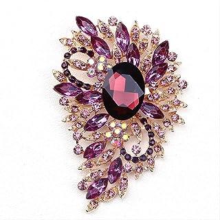 CBCJU Personalidad Creativa de Moda Broche de Cristal Accesorios de Ropa de Mujer de Gama Alta 9.9 * 6.7cm