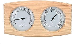 XYXZ Mini Termómetro Higrómetro Sauna Interior 2 En 1 Accesorios De Habitación De Madera Baño Y Sauna Termómetros Interior...