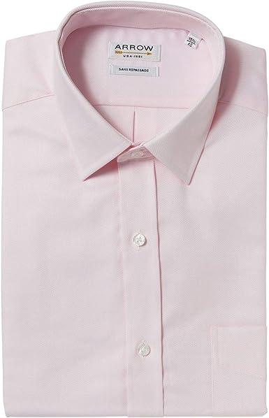 Arrow - Camisa de manga corta sin planchar, algodón de color ...