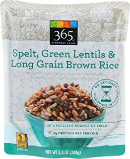 365 Everyday Value, Spelt, Green Lentils & Long Grain Brown Rice, 8.8 oz