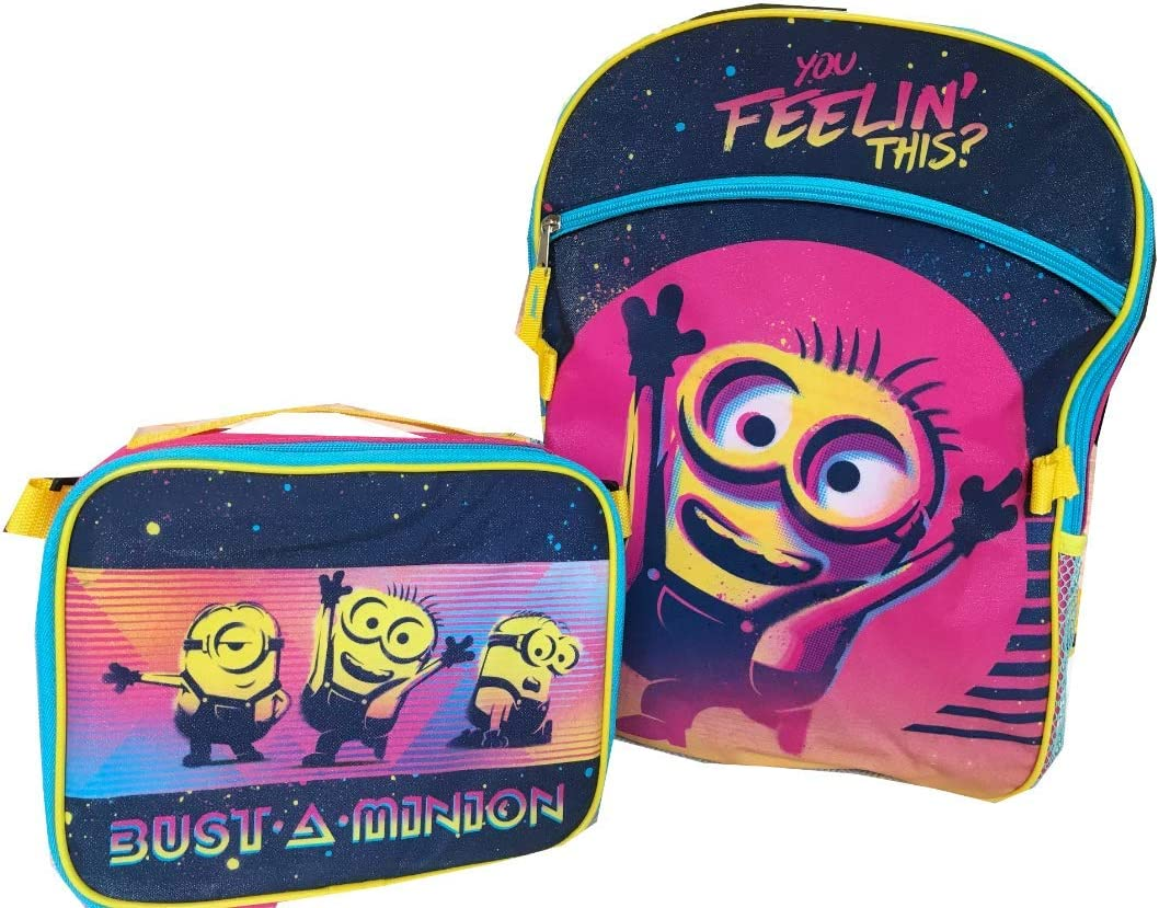 Minions Despicable Me Backpack Large Lunch Kit Bag