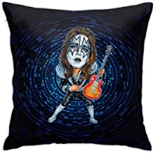 XINPULONG Ace-Frehley Full Printed Plush Fabric Decorative Square Throw Pillowcases Cushion Cases Size 18 X 18 Inch