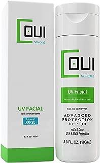 COUI UV Facial Face Sunscreen SPF 30 Mineral Zinc Oxide Moisturizer Lotion 3.3oz
