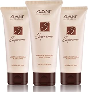 AVANI Supreme Mineral Moisturizing Body Lotion | Enriched with Dead Sea Minerals, Essential Oils & Vitamin E | Leaves Skin Soft & Hydrated - 6.8 fl. oz. (3 pack)