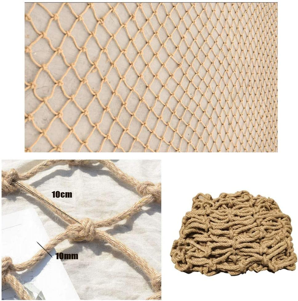 WZHONG Rope Ranking TOP16 Netting Farmhouse Industrial Net Elegant for Decor,Safety