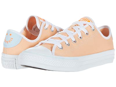 Converse Kids Chuck Taylor(r) All Star(r) Ripstop Ox (Little Kid/Big Kid) (Orange Calcite/Agate Blue/White) Girl