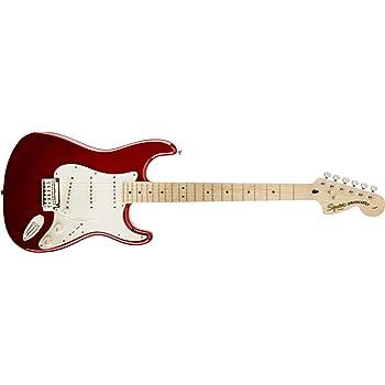 Squier por Fender Standard Stratocaster Guitarra eléctrica – Candy ...