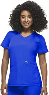 healing hands HH360 Women's Serena 2284 Zip Up V-Neck Top Scrubs