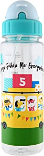 Simply Life - Blessings On Bus - BPA-free Tritan Bottle with Straw and Safety Release Strap (450ml), Blue