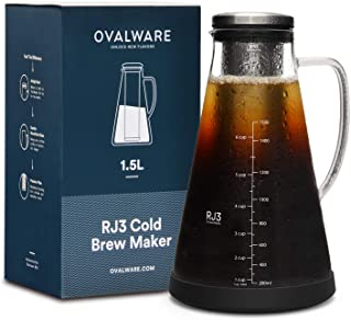 Airtight Cold Brew Iced Coffee Maker (& Iced Tea Maker) with Spout – 1.5L/51oz..