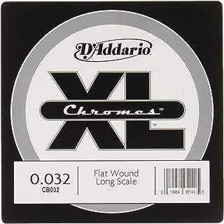D'Addario CB032 Chromes Bass Guitar Single String, .032