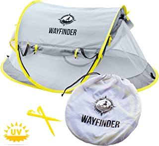 Wayfinder TravelTot, Baby Travel Tent Portable Baby Travel Bed Indoor & Outdoor Travel Crib Baby Beach Tent UPF 50+ UV Pro...