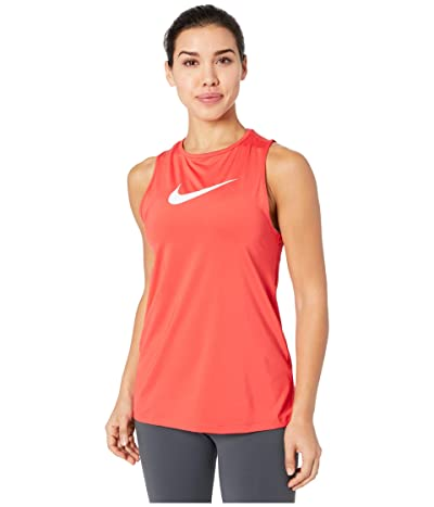 Nike Pro Tank Essential Swoosh (Track Red/White) Women