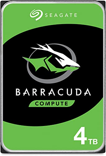 discount Seagate BarraCuda 4TB Internal Hard Drive popular HDD – lowest 3.5 Inch Sata 6 Gb/s 5400 RPM 256MB Cache for Computer Desktop PC Laptop (ST4000DM004) outlet online sale