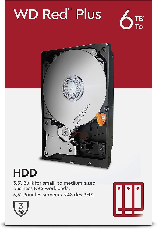 CMR SATA 6 GB//S Western Digital WD Red Plus NAS 3.5 Disco Rigido Interno 3 TB Cache 64 MB Classe 5.400 RPM