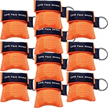 10pcs CPR Face Shield Mask Keychain Ring Emergency Kit CPR Face Shields for First Aid or AED Training