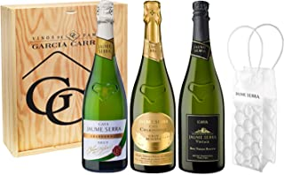 Jaume Serra - Lote de  Brut Nature Vintage, Chardonnay, Chardonnay Gran Reserva, Pack de 3 botellas x 75 cl