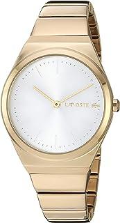Lacoste Mia 2001056 Reloj de cuarzo para mujer con correa de acero inoxidable, amarillo, 14.5 (modelo: 2001056)