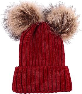 36eac28b950 MonkeyJack Baby Girls Boys Winter Warm Knit Hat Toddler Hairball Beanie Cap
