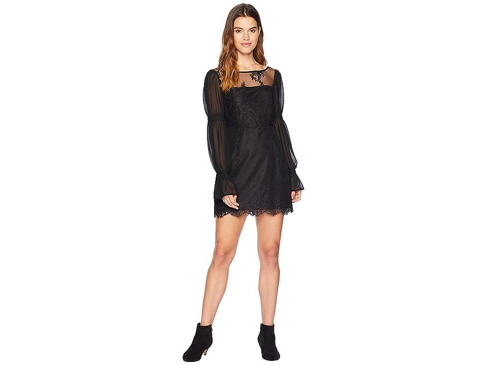 Cupcakes and Cashmere Jefferson Lace Dress (Black) Women