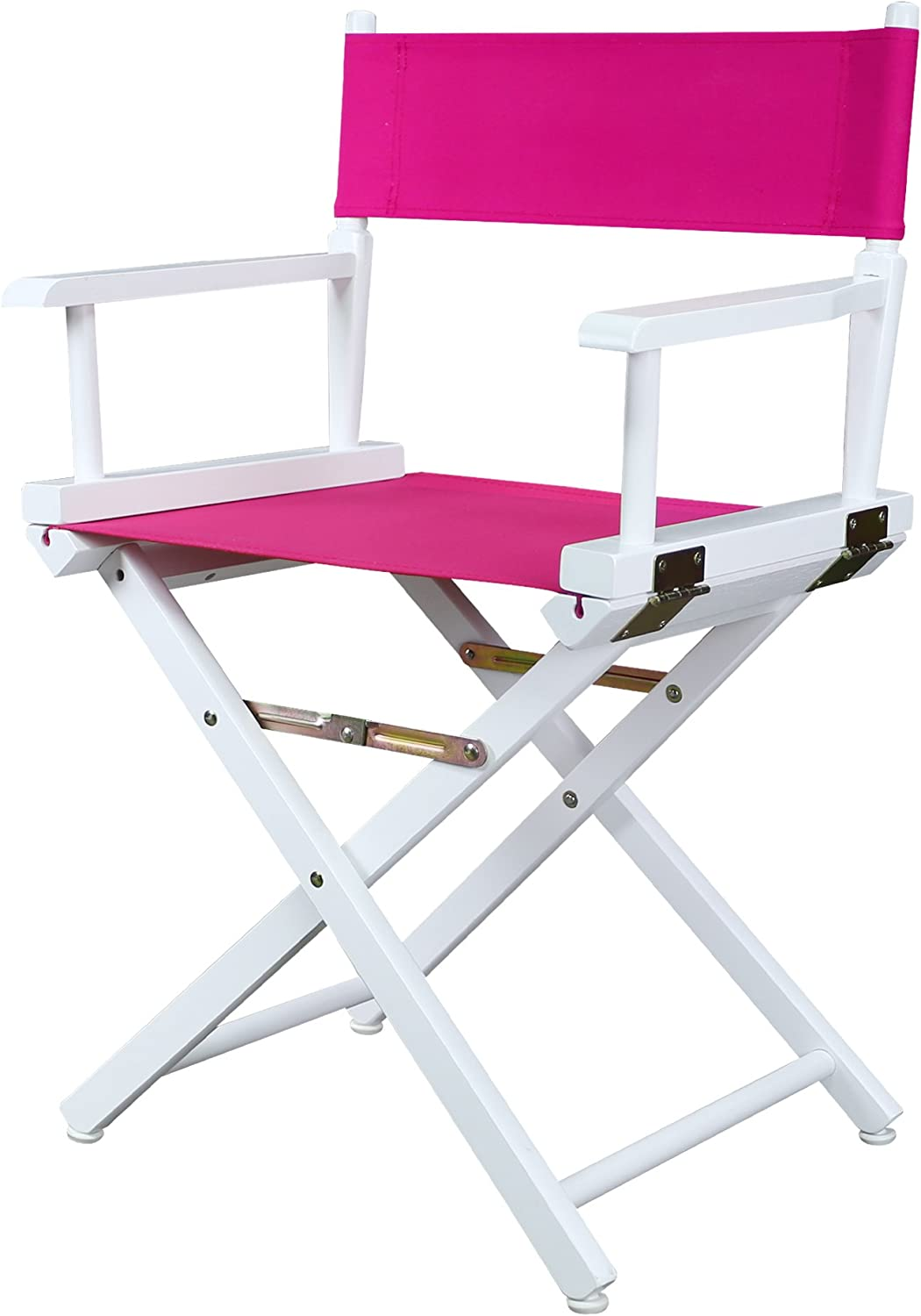 Casual Home 200-01 021-30 Director Chair 18  - Classic Height WhiteFrame Magenta Canvas