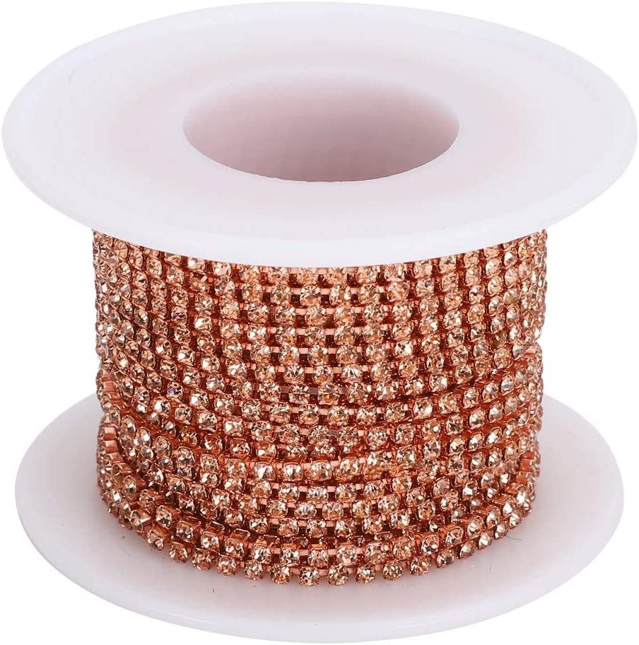 Rhinestones Max 43% OFF Chain 10 Yards sold out Trimming SS6 Crystal Beads Claw