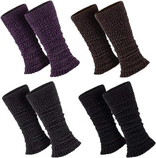 Sockenversandhandel 1 Paar Stulpen Damen Teens Legwarmers, Schwarz, Lila, Braun, Anthrazit, Einheitsgröße
