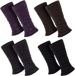 Sockenversandhandel 1 Paar Stulpen Damen Teens Legwarmers, Weich u. Warm ca. 38-40 cm lang, Schwarz, Lila, Braun, Anthrazit, Einheitsgröße