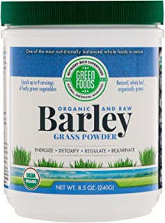 Green Foods- Whole Leaf Barley Grass Powder- Organic and Raw Superfood, Wholefood Antioxidant, Ideal for Digestion, Immuni...