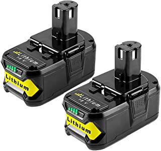 2PACK 18V Battery Replacement for Ryobi 18V 4.0Ah Battery Lithium P102 P104 P103 P105 P107 P108 P109 Ryobi ONE+ Cordless Tool Batteries