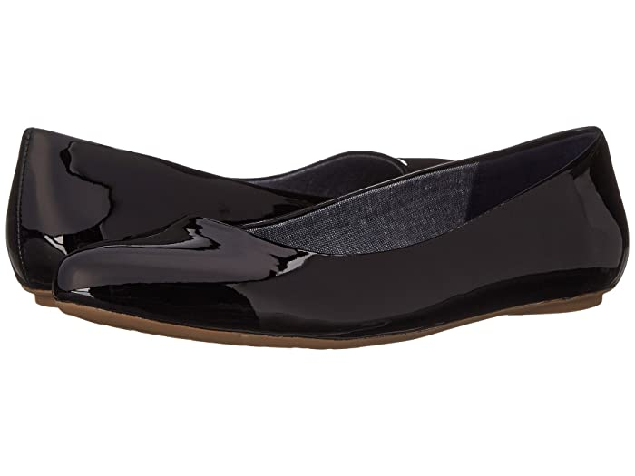 Dr. Scholls  Really (Black Patent) Womens Flat Shoes