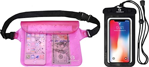 Freegrace Waterproof Pouches with Waist Strap / Pouch Case Bundle Set- Keep Your Phone & Valuables Dry and Safe - Wat...