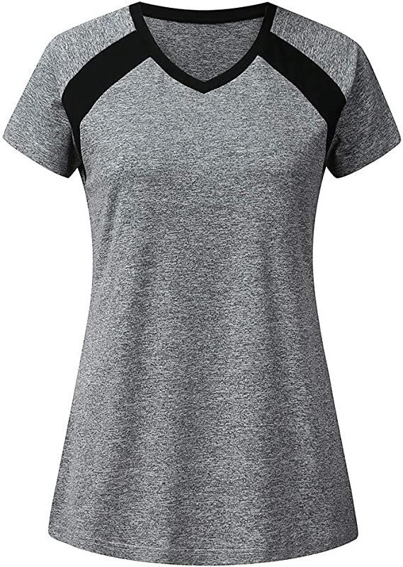 Shisay Women S Sports Short Sleeve Yoga Cool Workout Breathable Comfort O Neck T Shirt Slim Tunic Tops And Blouses