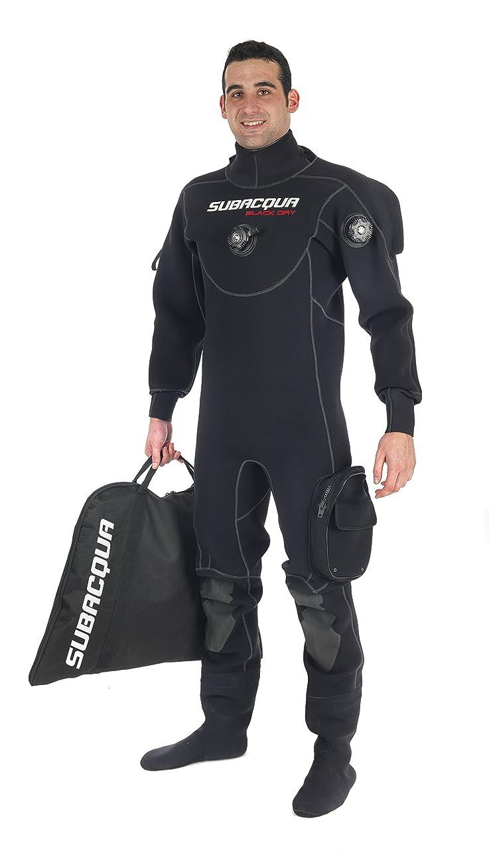 不名誉ますます描く水中sbtrcacubau01lドライスーツ、ブラック、L