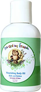Nourishing Body Oil with Lavender & Rose for Kids and Babies (4oz)