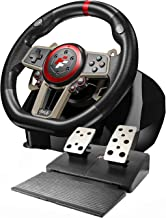 Game Racing Steering Wheel, 270/900 Degree PC Gaming Wheel with Universal USB Port and with 2-Pedal Pedals, Suitable for P... photo