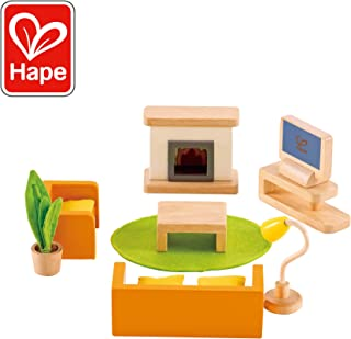 Hape Wooden Doll House Furniture Media Room Set