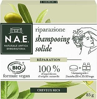N.A.E. - Shampooing Solide Certifié Bio - Réparation Cheveux Cheveux Secs - Extraits d'Olive Bio et de Basilic Bio - Formu...
