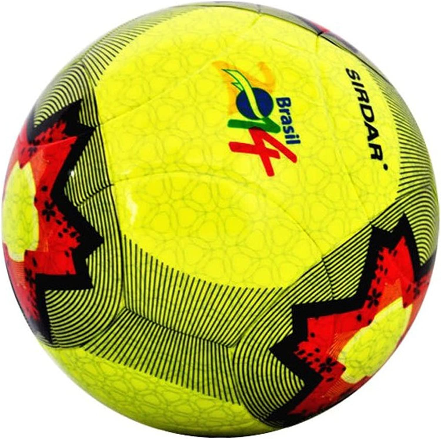 Red Stars Pattern Training and Playing Soccer Ball for Adults Size 5