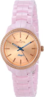 Invicta Women's 14910 Rose Gold-Tone Watch with Pink Ceramic Bracelet